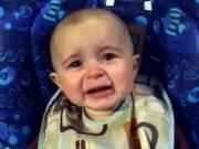 !!! PRICELESS !!! 10 Months Baby Crying With Emotion When Mother Sings