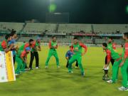 Bangladesh Cricketers are dancing after ODI and T20 series win against Pakistan