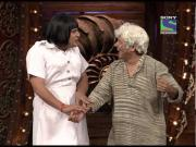 Krushna as Nurse and Sudesh as Old Man